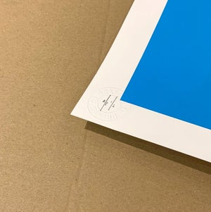 "Image of ""Most Is What You Make Of It"" AP 1/2 Sky Blue Variant - Hand Finished Screen Print"