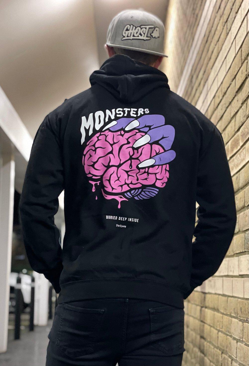 Monsters Black Hoodie