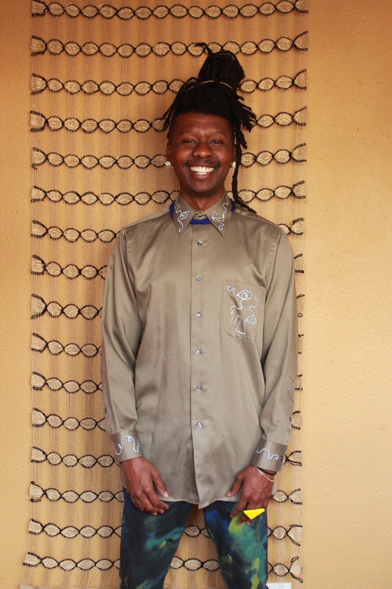 Image of Tan Classic Button Up
