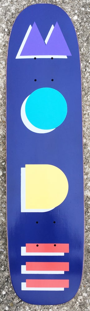 "Image of ""Mode Deco"" 29"" single-kick freestyle deck (one-of-a-kind blue tone)"