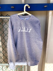 Image of White on Grey Paint sweatshirt