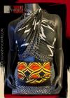 Designs By IvoryB Fanny Pack- Mustard Orange Black Ankara African Print