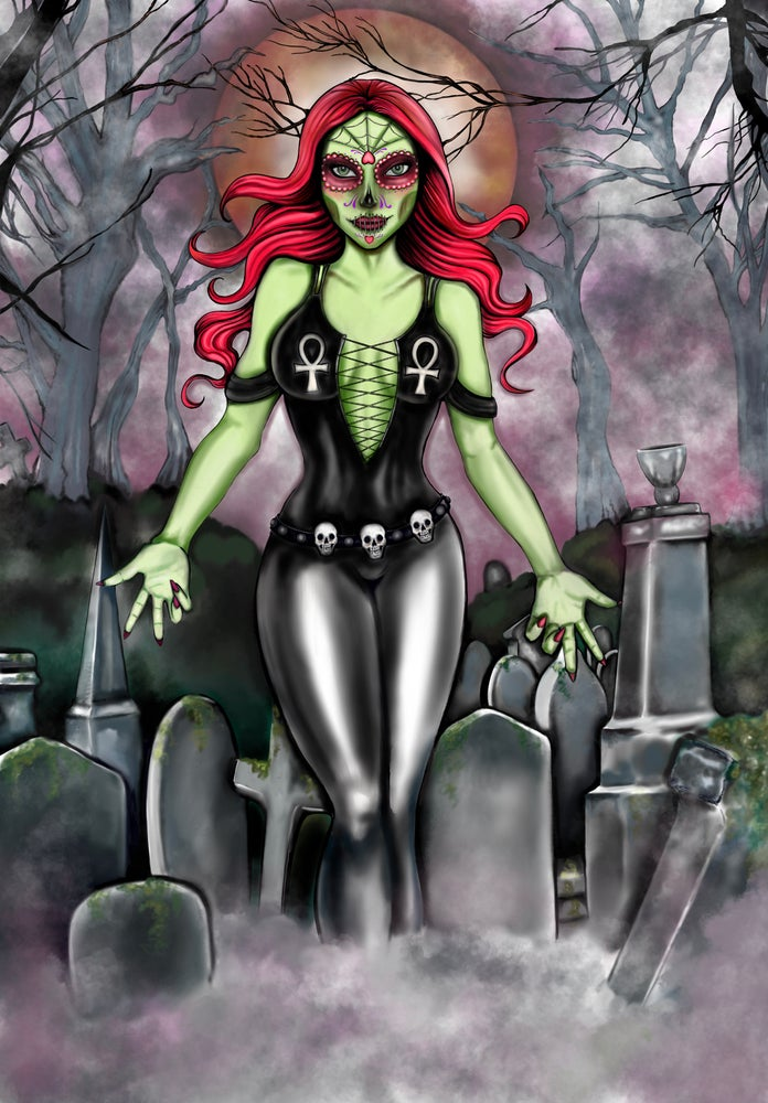 Image of LIVING DEAD GIRL 12 X 18 GICLEE ART PRINT LIMITED TO 25
