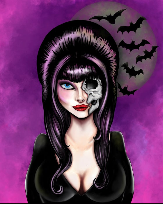 Image of ELVIRA 12 X 18 GICLEE ART PRINT LIMITED TO 25