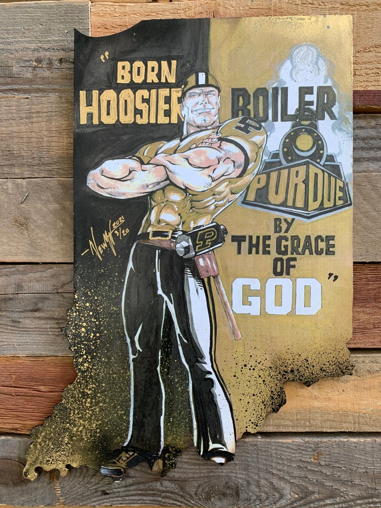 Image of Boiler By The Grace Of God ( Hand Painted Reproduction)
