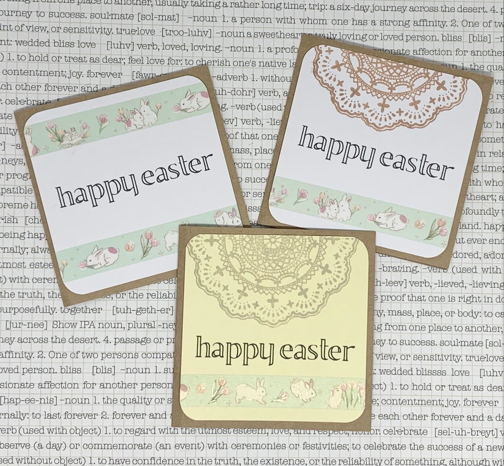 Image of easter gift cards - bunny washi