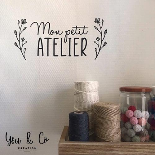 "Image of Sticker ""Mon petit ATELIER"""