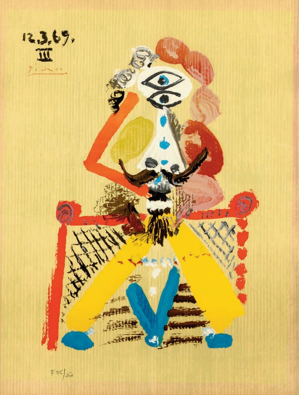 Image of (after) pablo picasso / imaginary portrait / poster / 23/094