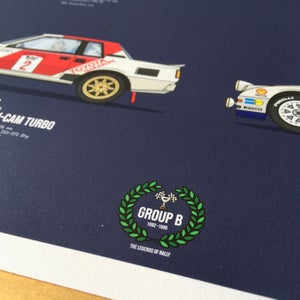 Image of Group B Rally Legends Giclee Print