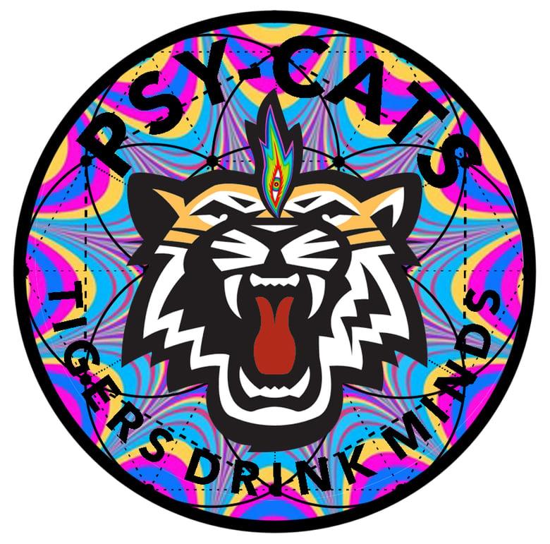 "Image of Psy Cats - 3.5"" x 3.5"" Vinyl Sticker"