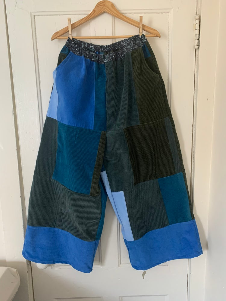 Image of Corduroy Patchwork Zen Spinner Pants