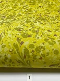 Marbled Paper Chartreuse - 1/2 sheets