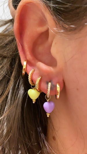 Image of Orecchini Beads Cuore