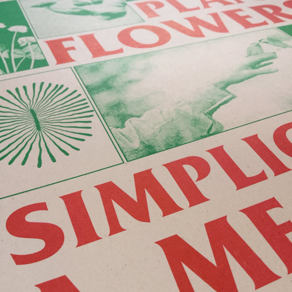 Image of Simplicity As A Means of Resistance A3 riso print
