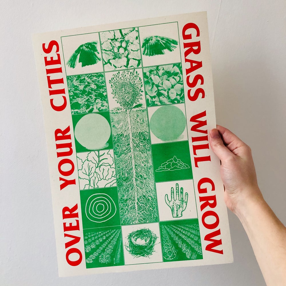Image of Over Your Cities Grass Will Grow A3 Riso Print