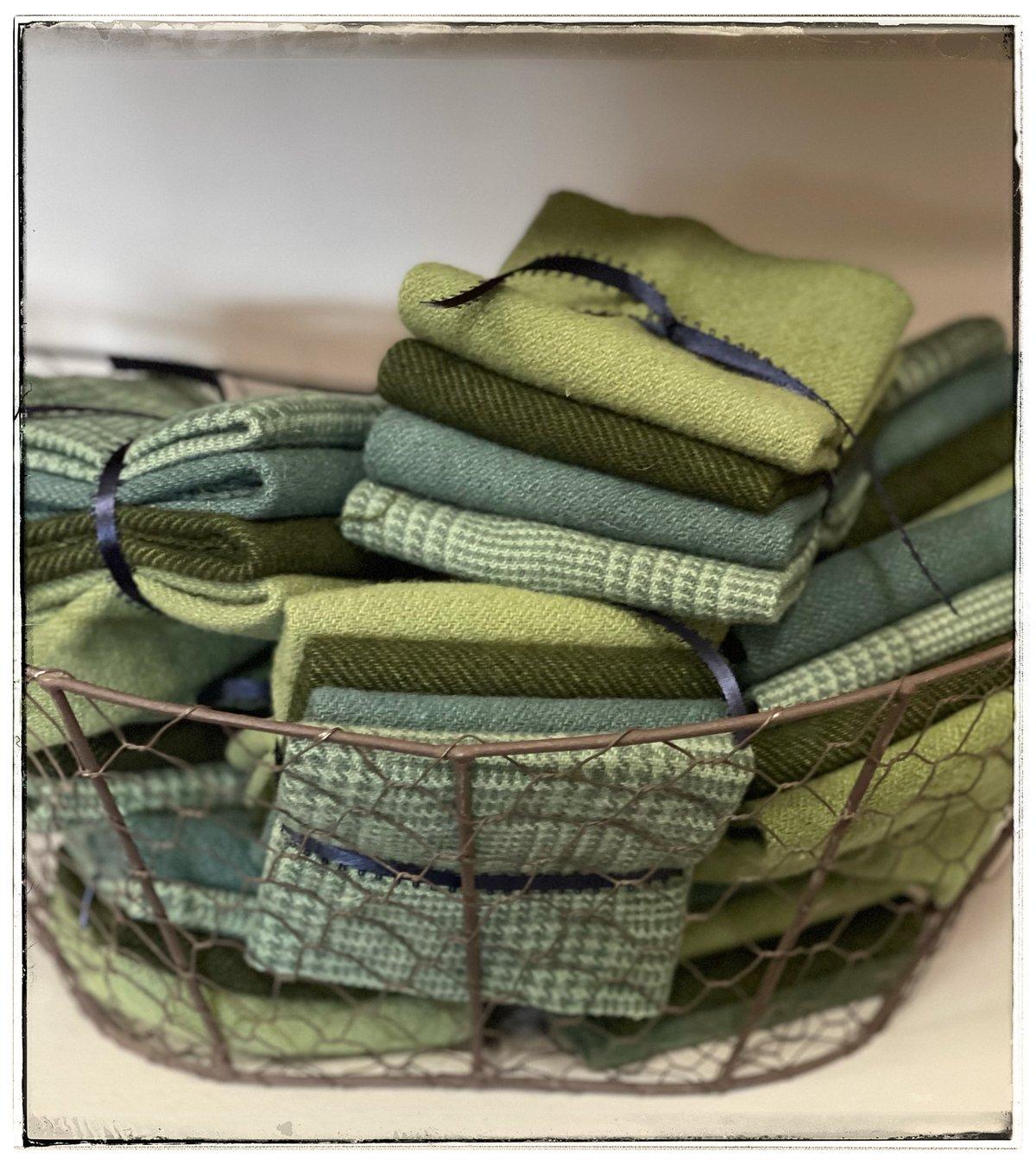 Leafy Greens Hand Dyed Wool bundles