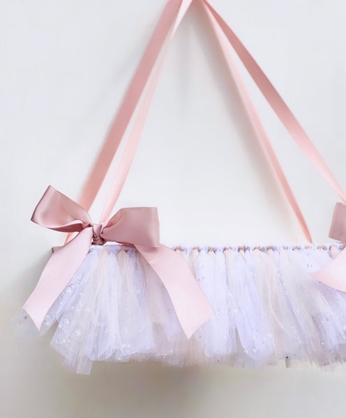 Image of Tutu shelf including glitter tulle
