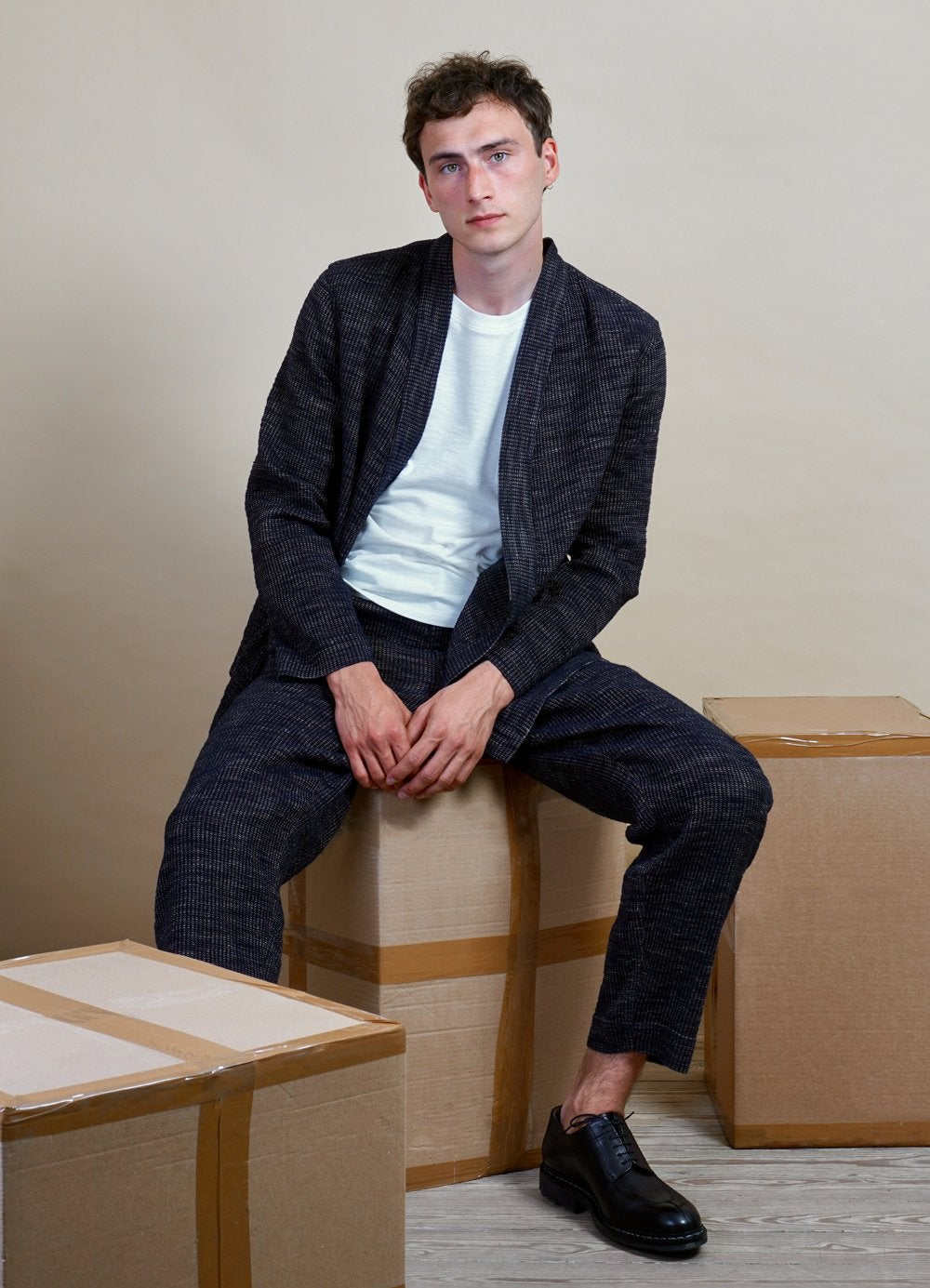 Hansen Garments FOLKE | Scarecrow's Jacket | Black Hemp