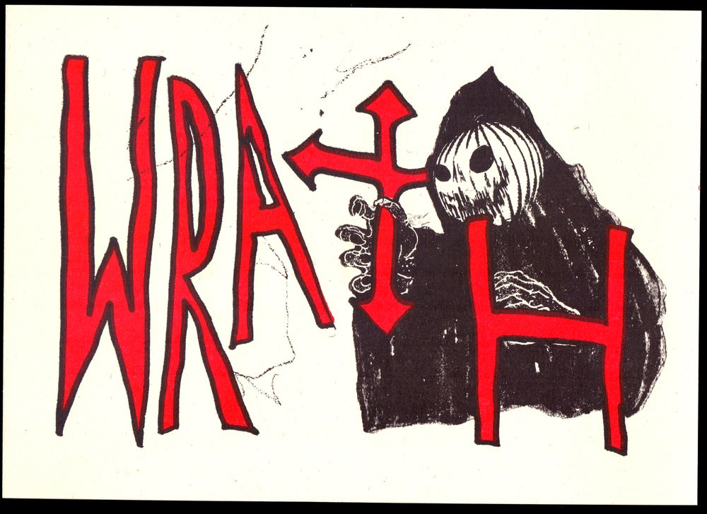 Image of 'WRATH' — Sam Barrett collaboration / Risograph Print