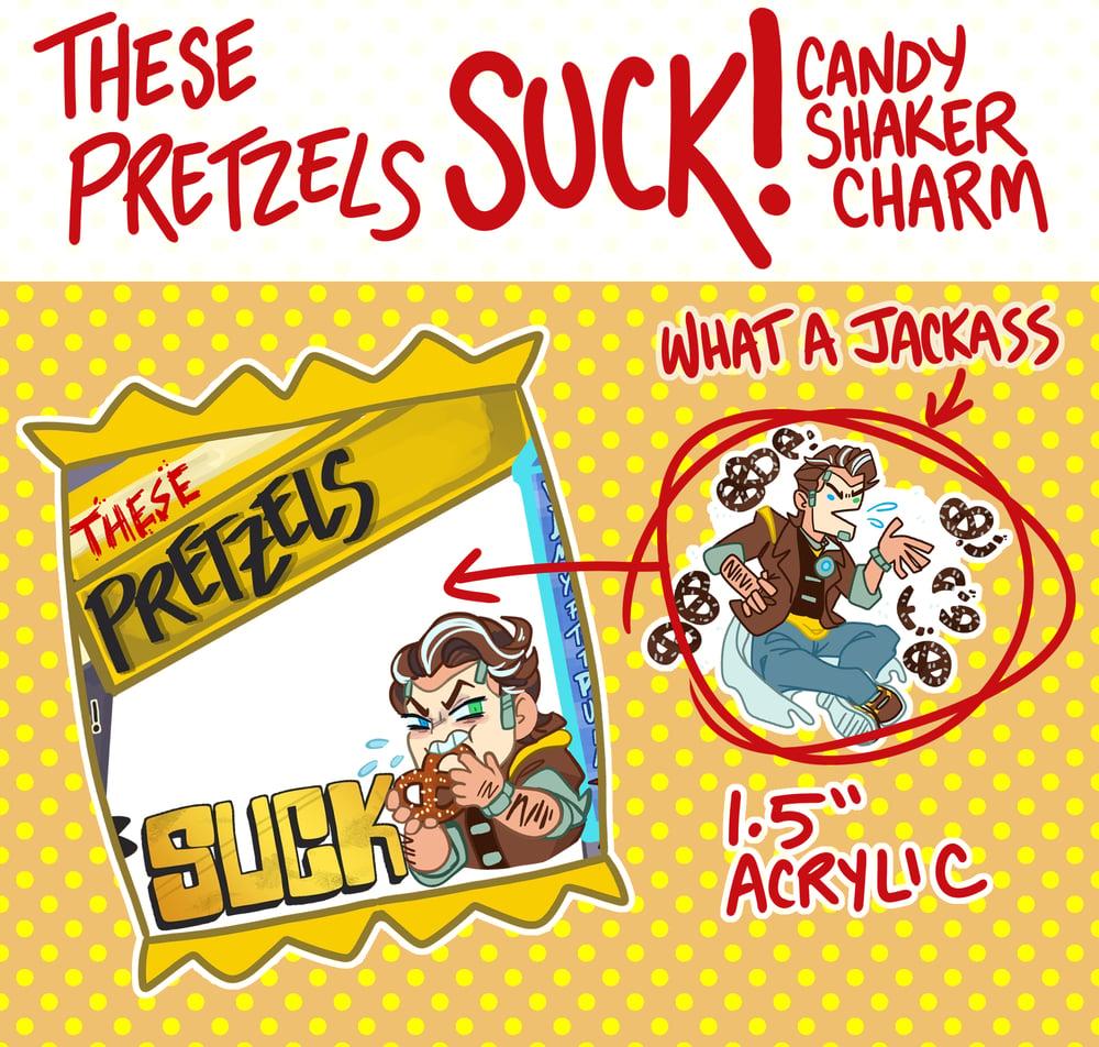 These Pretzels Suck! Jack Candy Bag Charm!