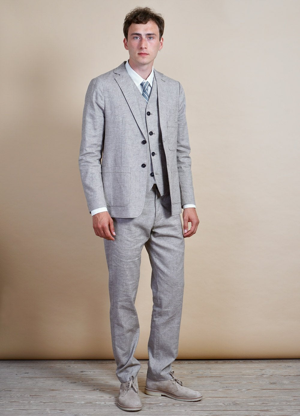 Hansen Garments CHRIS | Two Button Classic Blazer | Beach