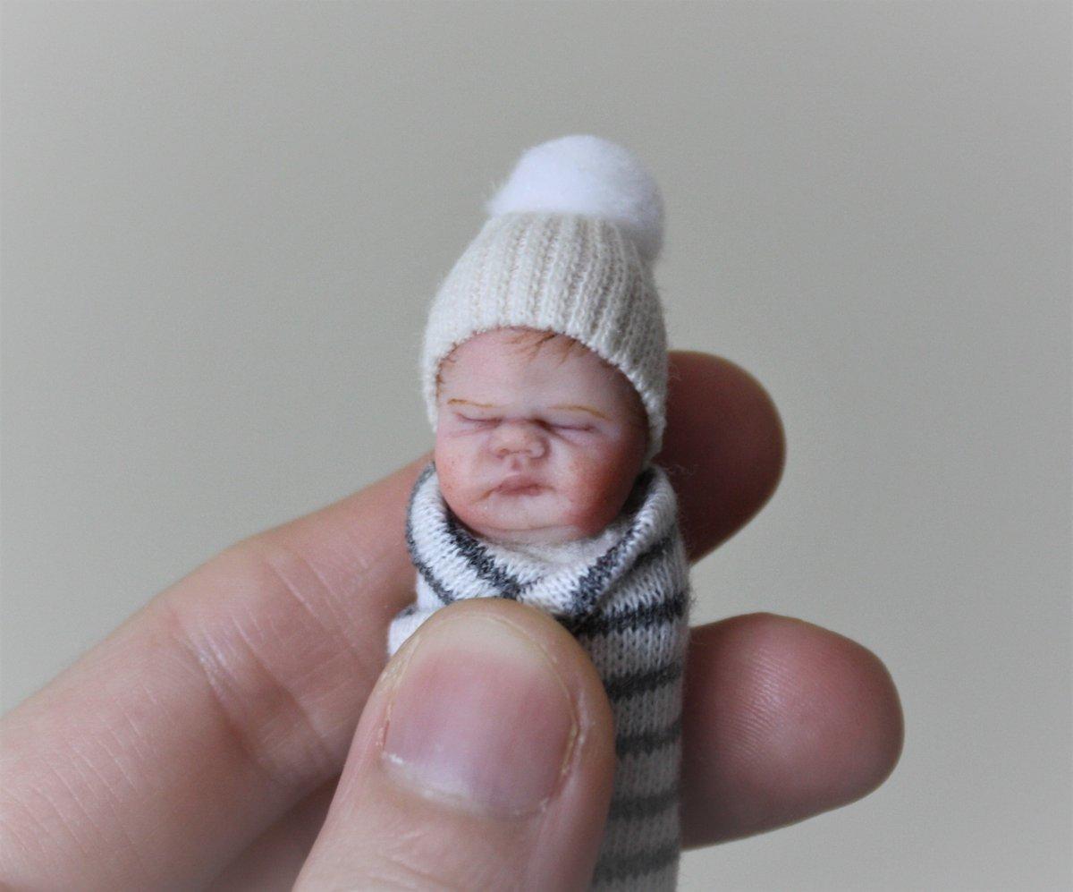 Image of #13.  OOAK Miniature Bundle Baby Boy