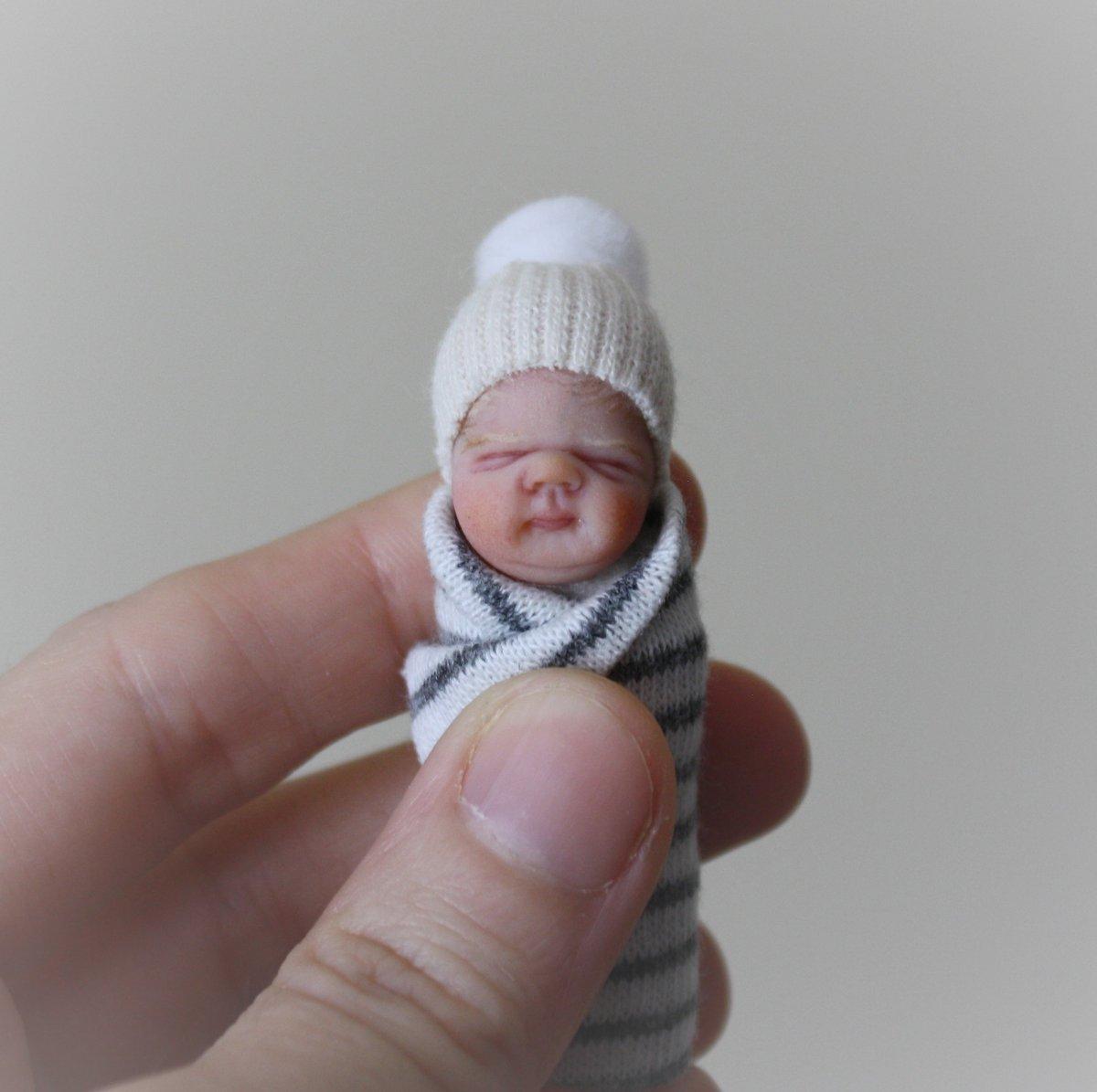 Image of #14.  OOAK Miniature Bundle Baby Boy