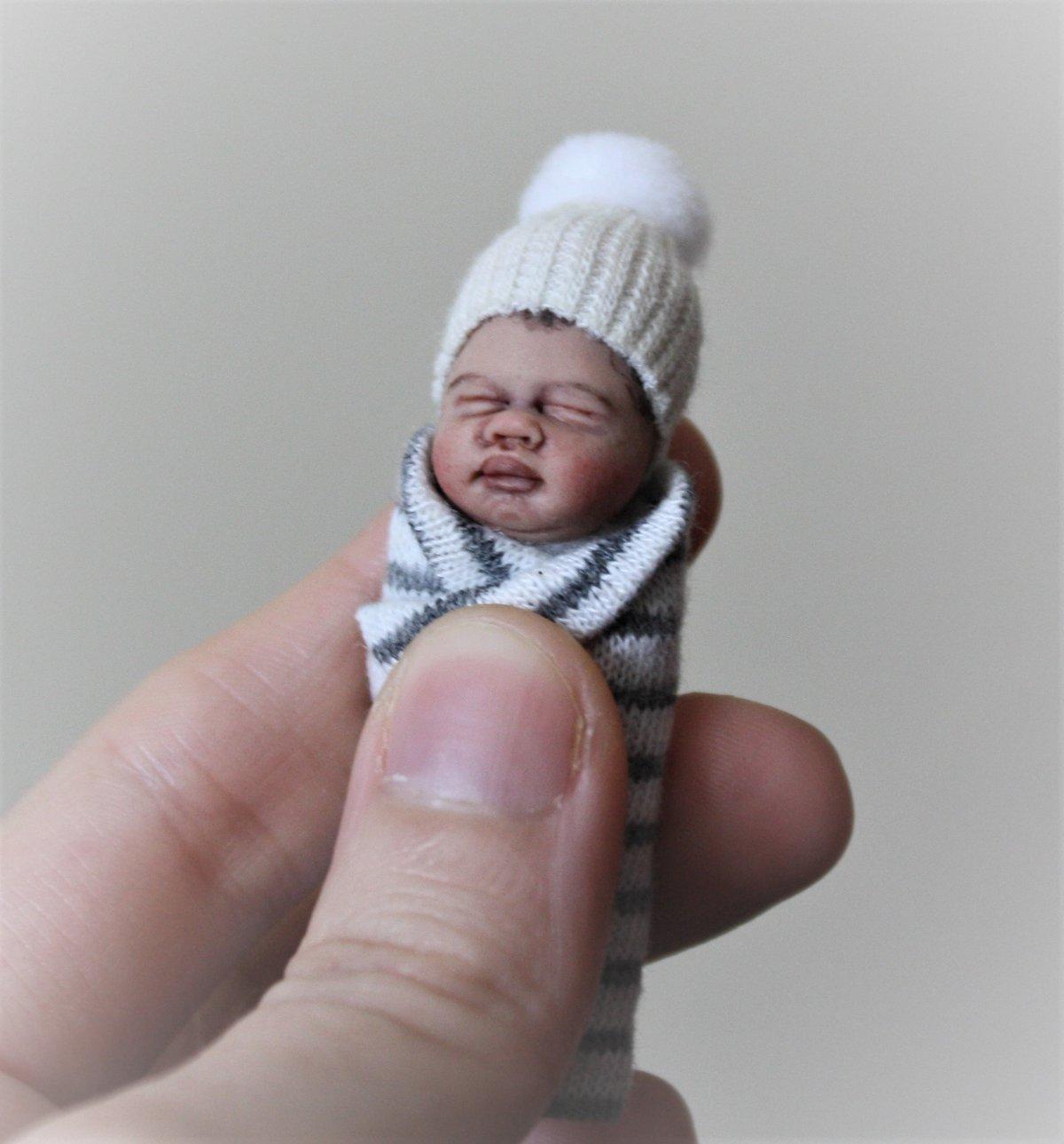 Image of #19.  OOAK Miniature Bundle Baby Boy