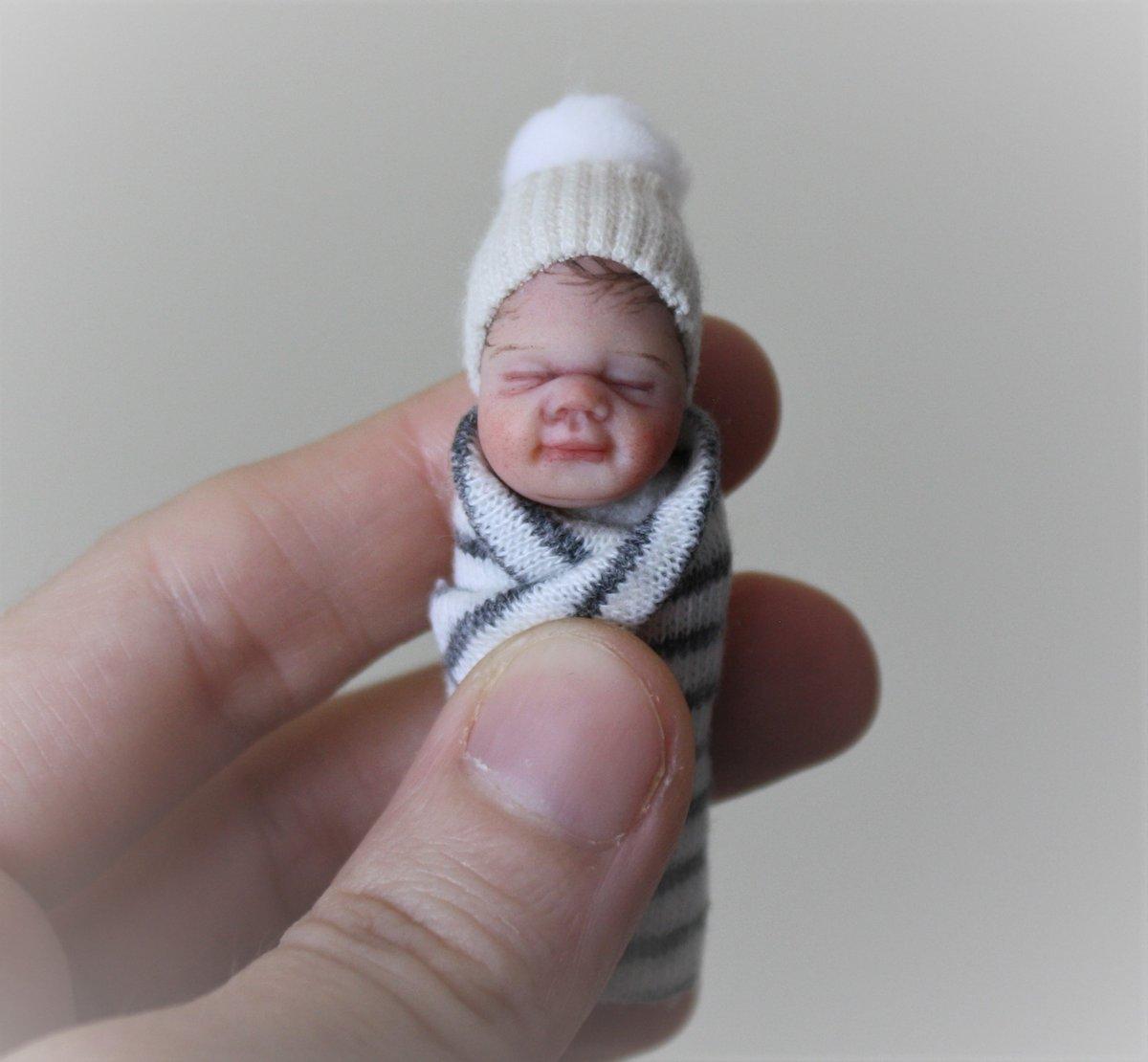 Image of #20.  OOAK Miniature Bundle Baby Boy