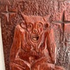 Carved Wooden Devil Panel