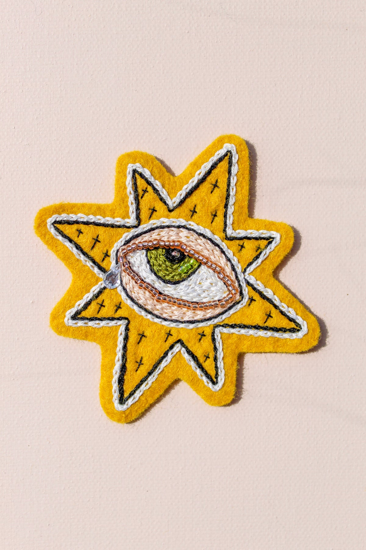 Image of Weepy Starry Eye Embroidery Pattern (PDF Document)