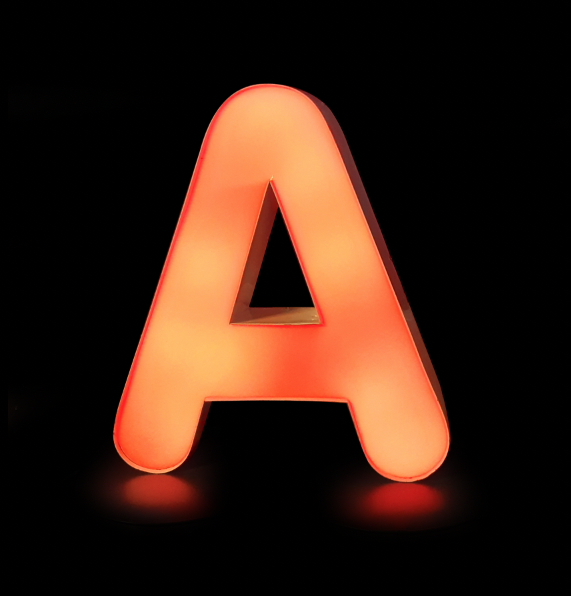 Image of 'A' Neon Sign