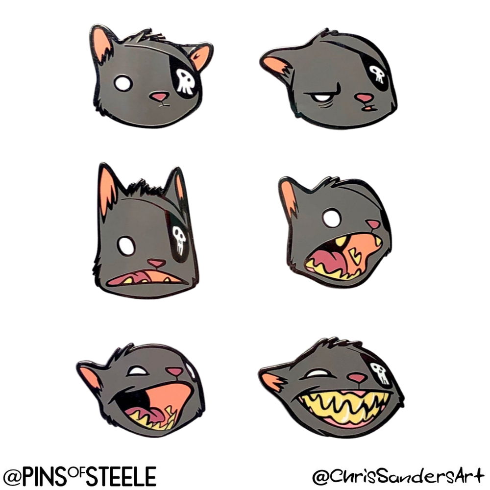 Image of Faces of Ogo the Cat (Artist: Chris Sanders)