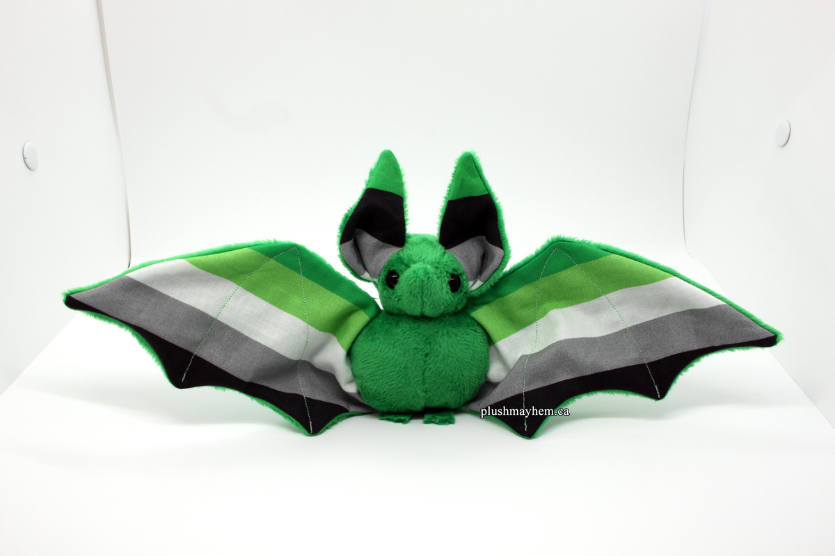 Image of Aromantic Pride Bat - Made to Order