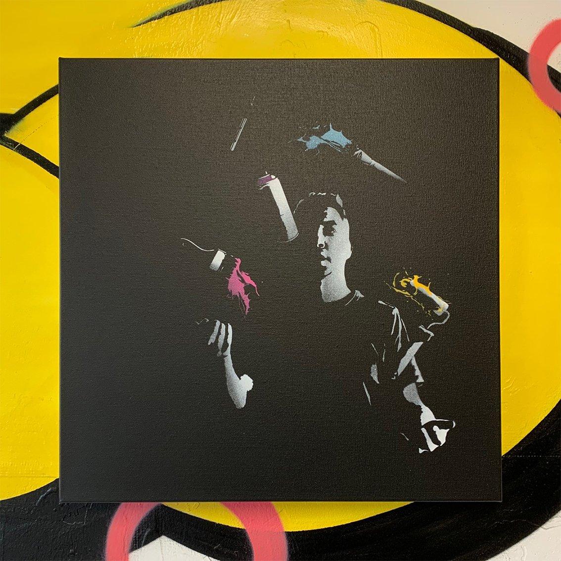 "Image of ""Artistic Balance"" No 1/5 (Nighttime Edition) 50x50cm Deep Edge Canvas"