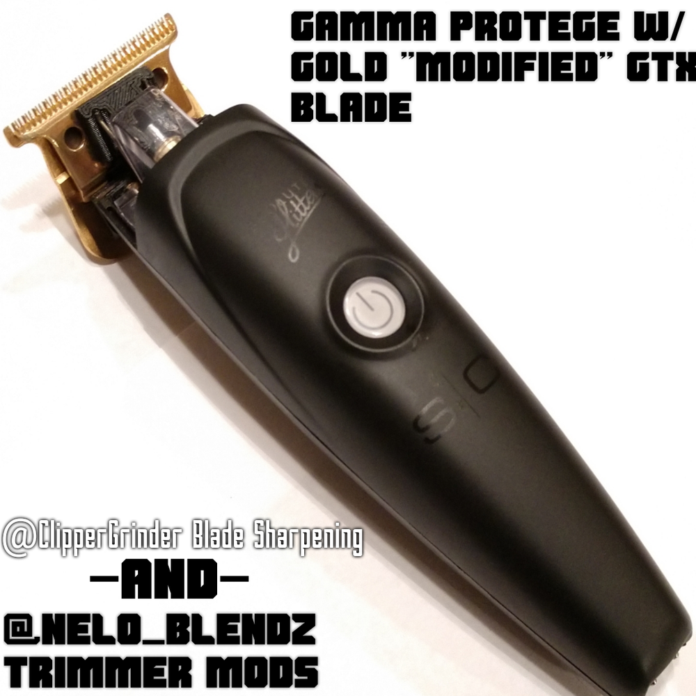 """Image of (3 Week Deliver/High Order Volume) Gamma Protege Trimmer W/ Gold """"Modified"""" GTX Blade"""