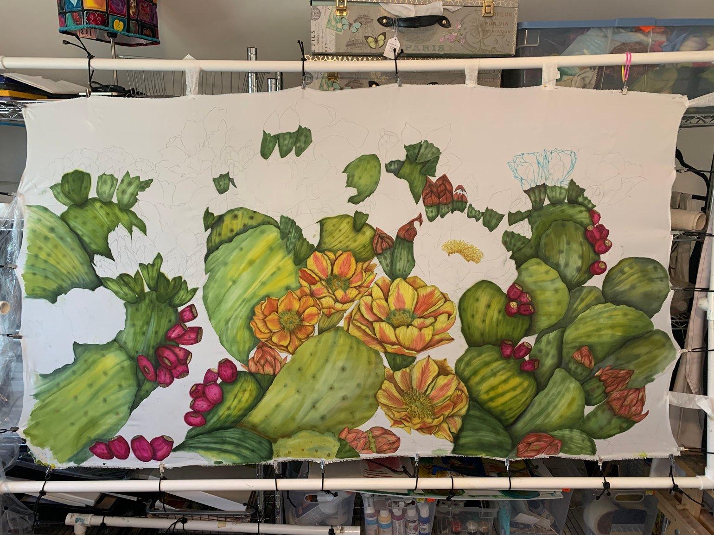 Image of Prickly Pear Cactus WIP
