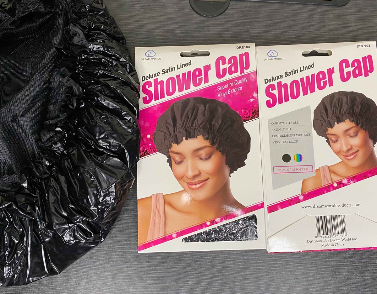 Deluxe Satin Lined Shower Caps