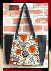Designs By IvoryB Tote Bag Ankara African Print Orange Black Flower