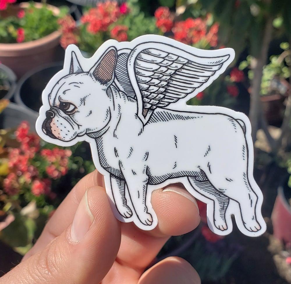 """Flying French Bulldog 3"""" Vinyl Sticker"""