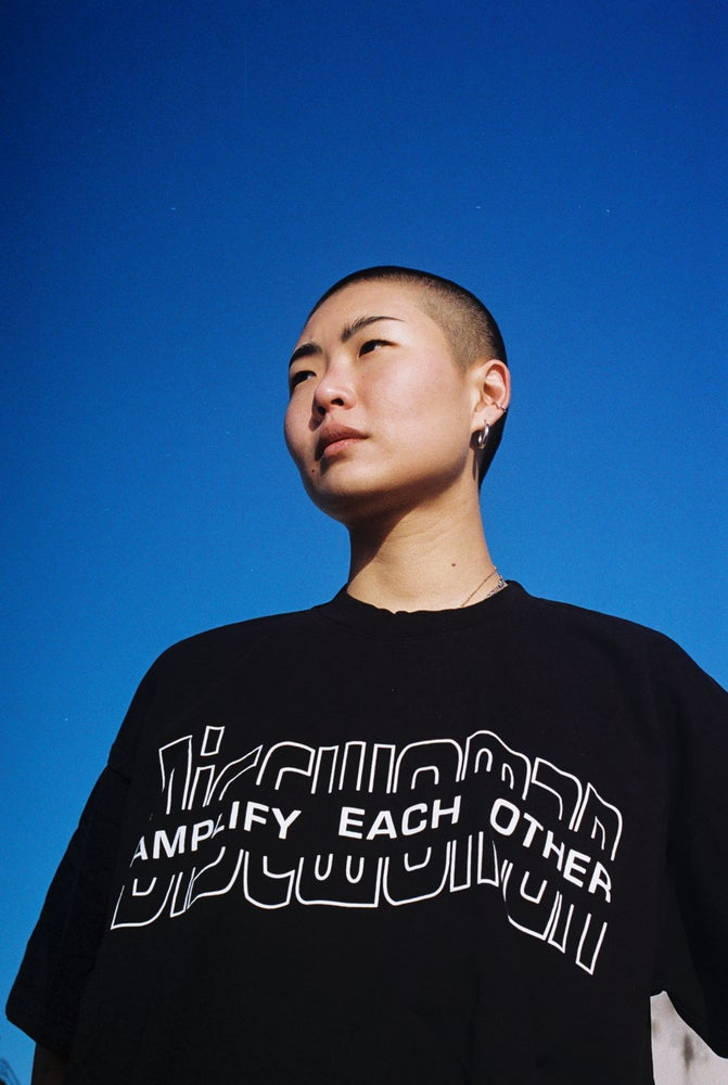 Image of DW AMPLIFY EACH OTHER TEE (BLACK)