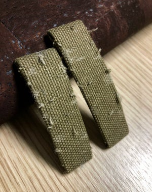 """Image of Military canvas 2 piece """"Spezzone"""" watch strap for Deployante"""