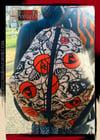 Designs By IvoryB Backpack Ankara African Print Orange Black Flower