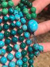 Chrysocolla, Variscite, Kingman Turquoise 108 Beads Japa Mala Hand knotted Gemstone Necklace
