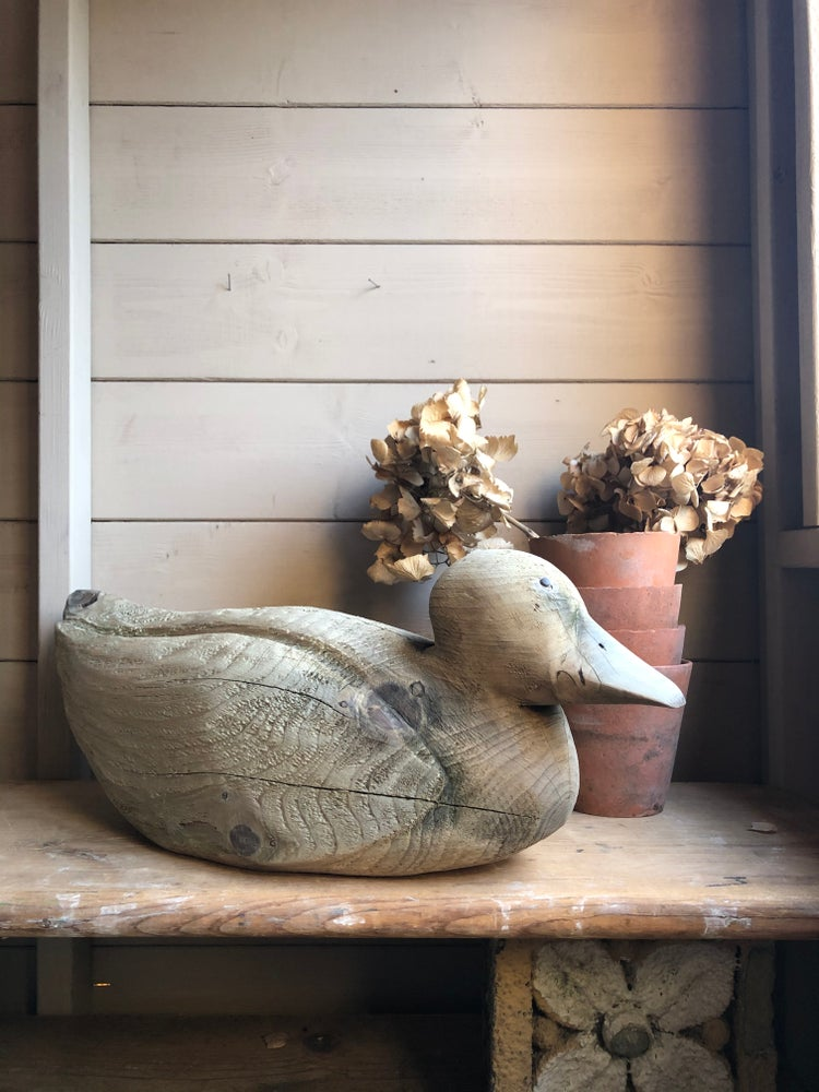 Image of Large rustic decoy duck