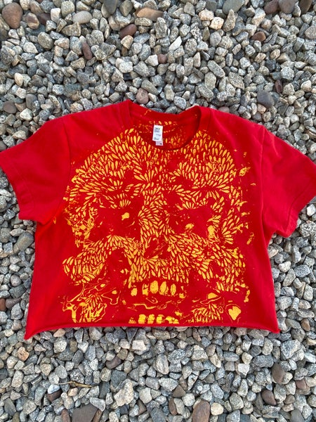 Image of CROPPED SKULL TEE