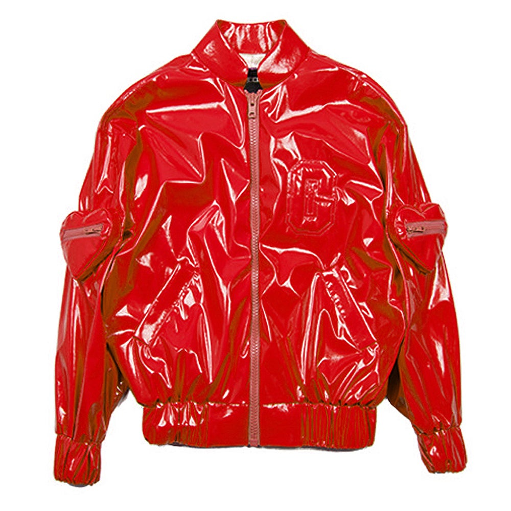 THE SWEETHEART BOMBER JACKET (CHERRY RED)