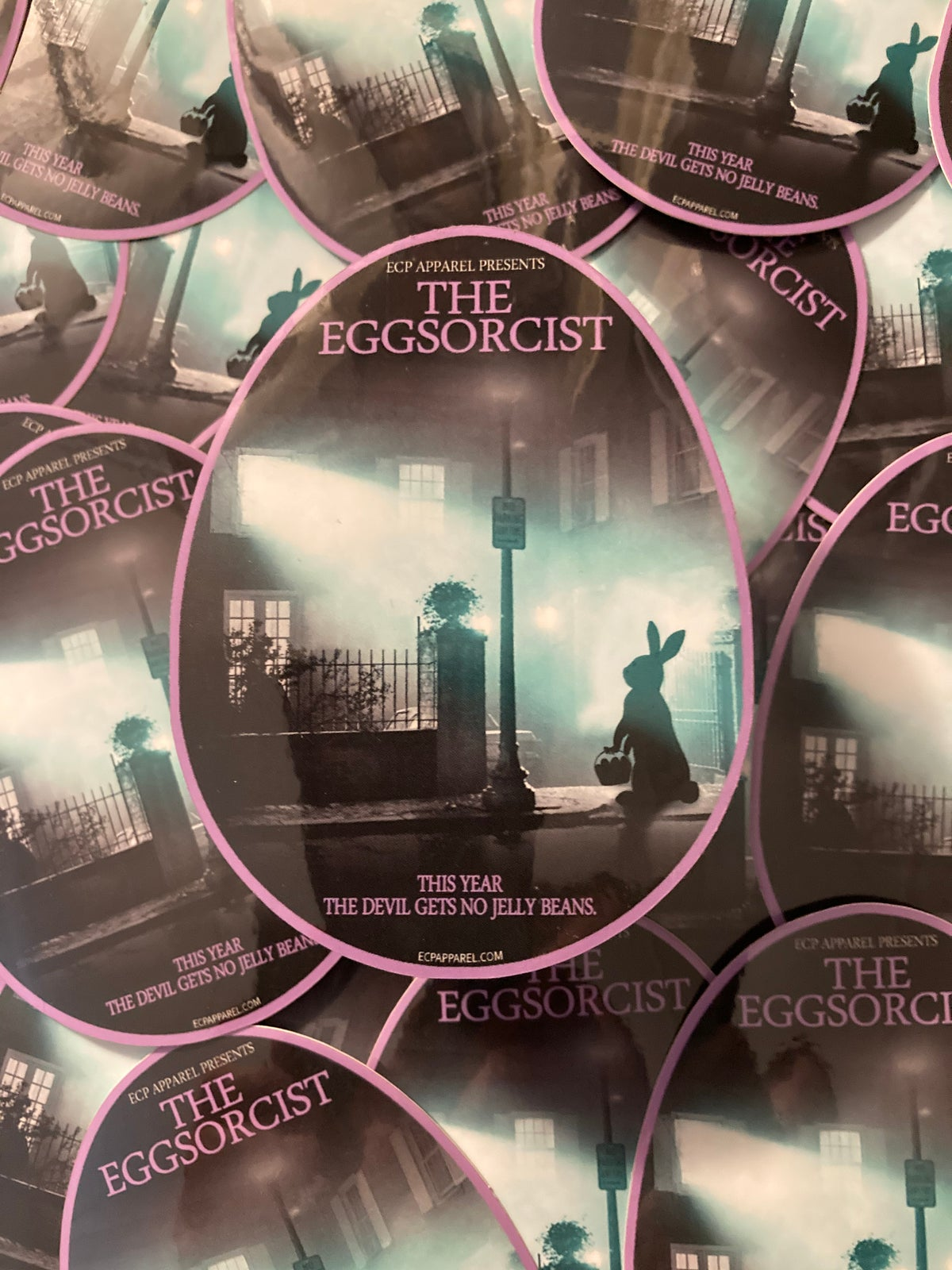 """The Eggsorcist"" Die-cut Sticker"