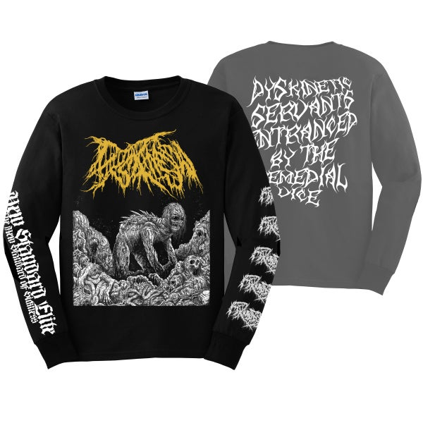 """Image of DYSKINESIA """"MICTURATING DEPOSITS"""" LONG SLEEVE"""
