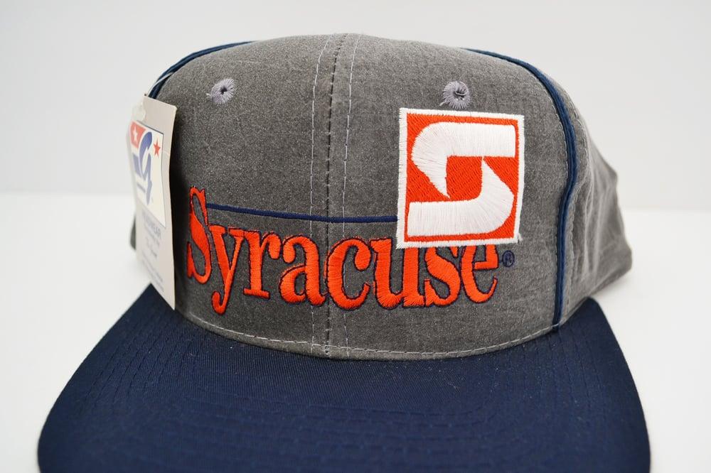 Image of Vintage 1990's Syracuse Orangemen The Game Acid Washed Snapback